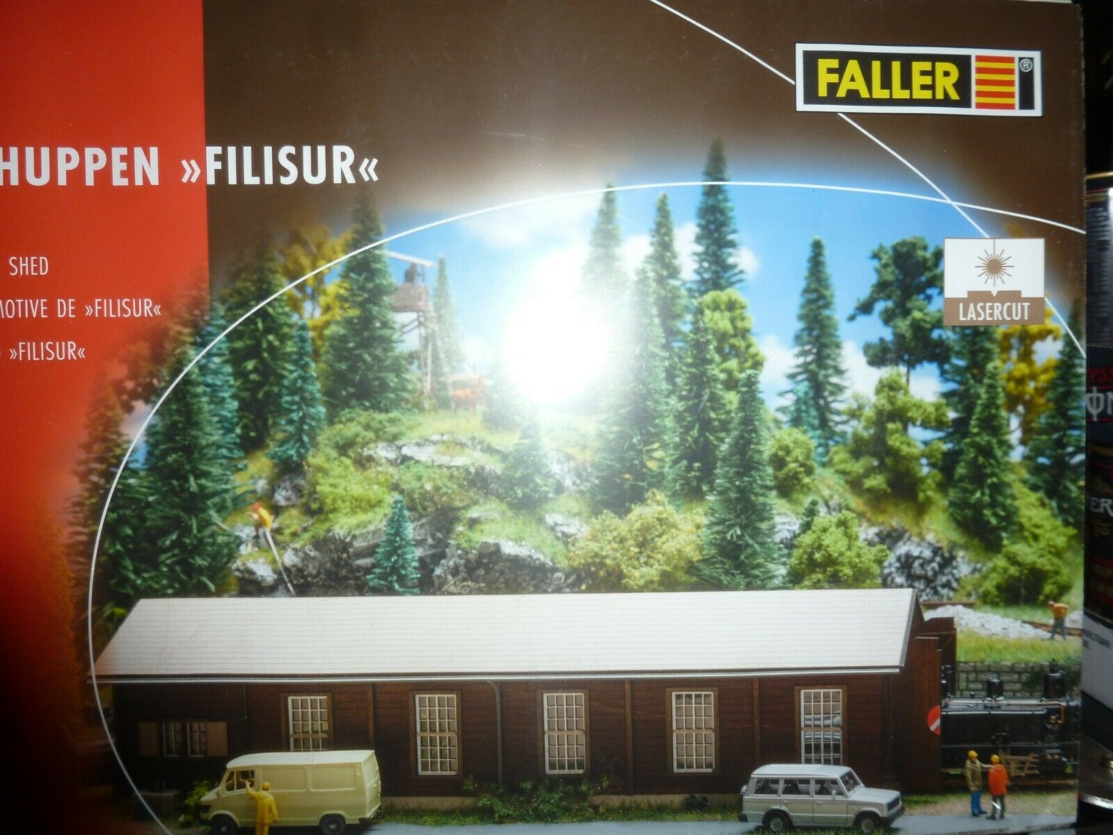 Ftuttier Lokschuppen Filisur n. 120279 LASERCUT Spur HO