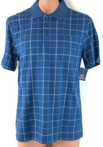 Blue Patterned No Roll Collar Jersey Polo Shirt Details about  /George Men/'s Shirt M 38-40