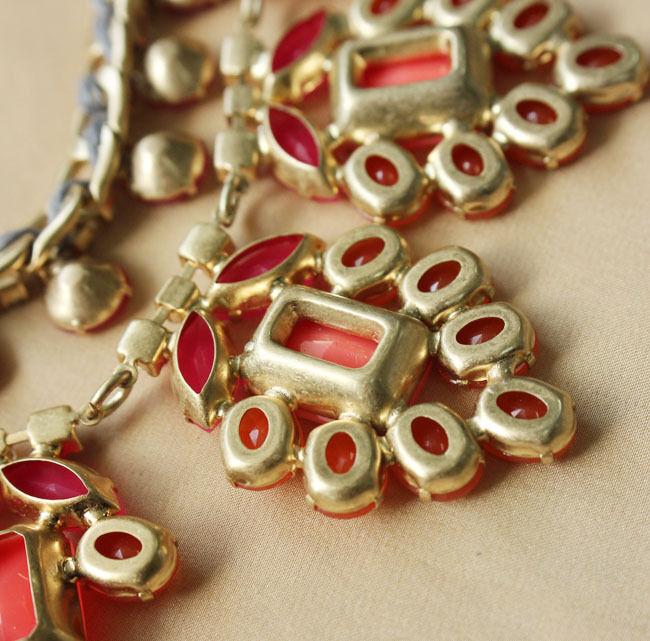 Collare Da Donna Donna Donna Fiore Arancio Corallo Originale Stile Moderno Sera Matrimonio 9ce0c6