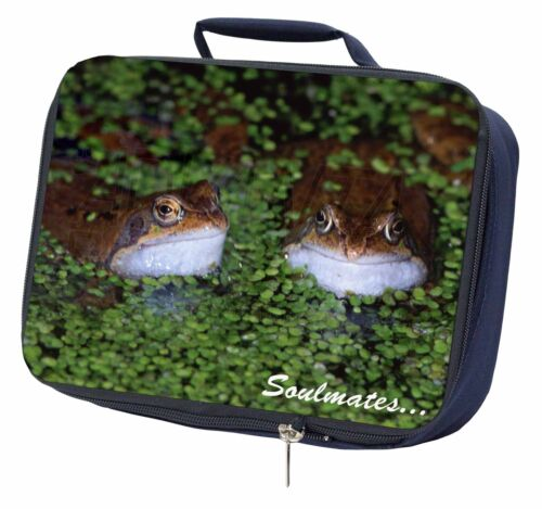 Two Pond Frogs /'Soulmates/' Navy Insulated School Lunch Box Bag SOUL-76LBN