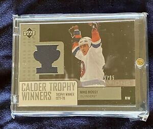 UPPER-DECK-Calder-Trophy-Winners-Game-Worn-Jerseys-5-85-Mike-Bossy