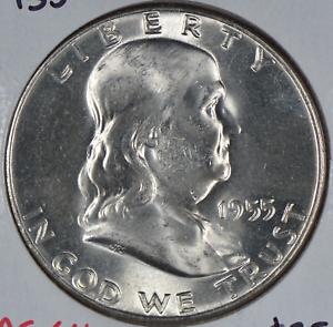 1955 Franklin Half Dollar Mint State