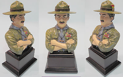 BADEN POWELL WORLD SCOUT FOUNDER OF GILWELL BRONZE COLOUR FIGURE FIGURINE BP