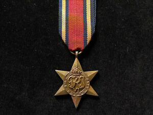 WWII-Full-Size-Burma-Star-Original-Medal-with-replacement-ribbon