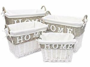 Image Is Loading Strong Deep White Wicker Storage Home Log Hamper