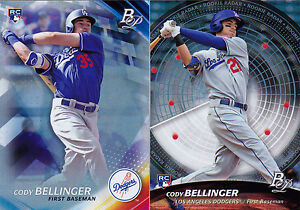 Cody-Bellinger-LOT-2017-Bowman-Platinum-Base-w-Rookie-Radar-SP-Dodgers-RC