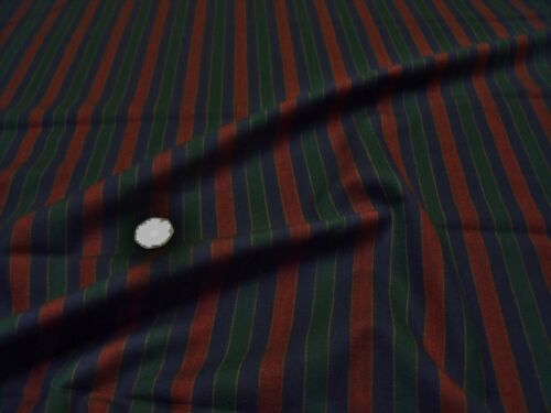 NAVY//WINE//GREEN POLY//WOOL STRIPE SUITING SUITING FABRIC-FREE P/&P