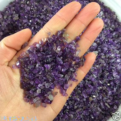 50g Natural Mini Amethyst Point Quartz Crystal Stone Rock Chips Lucky Healing S1