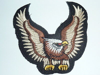 "Patch ecusson petit ""aigle de face marron "" harley, moto; country,biker, usa"