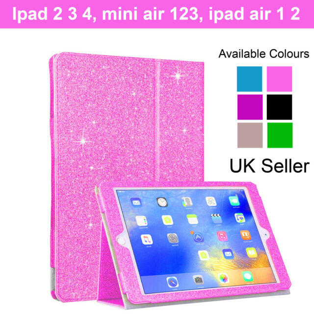 cheap for discount 62c5f 9462e Shockproof Glitter iPad Case Cover Stand For Apple iPad 2345678 Mini 123  Air 2