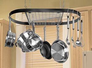Hanging Pot Rack Cooking Pots And Pans Iron Large ...
