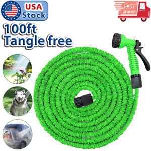 USA-Seller-100-Feet-Expandable-Flexible-Garden-Water-Hose-w-Spray-Nozzle