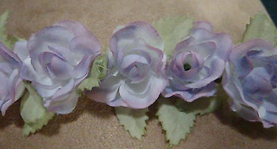 Rose Flower Head Wreath Band Halo Fairy Crown Circlet Floral
