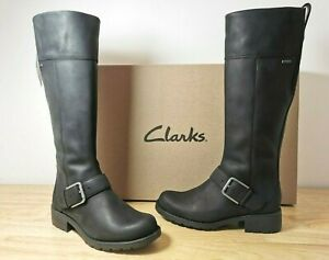 CLARKS-LEATHER-Orinoco-Hi-GTX-Boots-WaterProof-rSz-uk4-eu37-rrp-150-New