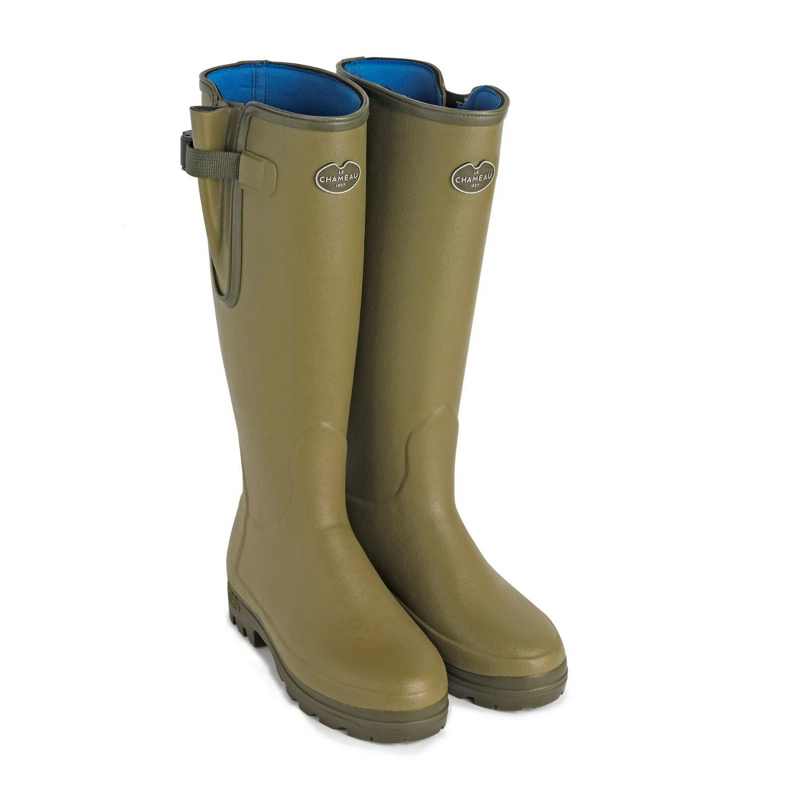 Le Chameau Vierzonord Neoprene Lined Rubber Wellington Boots