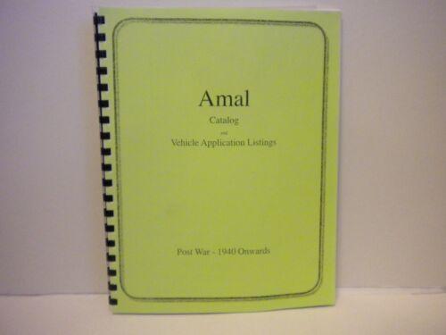 British Amal Carburetor Catalog 1940-1987