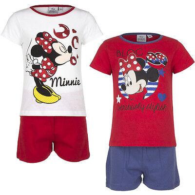 Modestil Pyjama Set Kurz Schlafanzug Mädchen Minnie Mouse Weiß Rot Blau 98 104 116 128#55 Bequem Zu Kochen