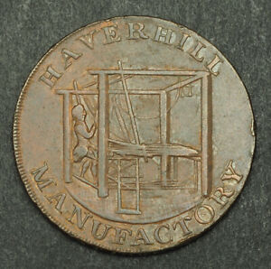 1794-Great-Britain-Suffolk-Haverhill-Cu-Half-Penny-Token-Coin-D-amp-H-31-VF