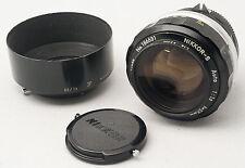 Nikon Nikkor-S 55mm 1.2 Non-AI, Front & Rear caps, Hood - FAST Prime