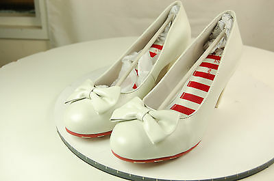Lola Ramona Elsie Damas Tacones Zapatos Blanco Señoras Tamaño UK7/EU40