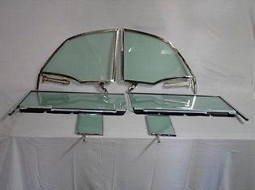 Vent Door Quarter Glasses Assembled Green 55-57 Pontiac 2 Door Convertible