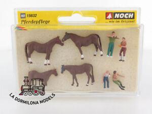 ED-15632-NOCH-ESCALA-H0-DIFERENTES-PERSONAJES-Y-ANIMALES-034-Limpieza-de-caballos-034