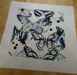 Dancing Gypsy Butterflies Printed Fabric Panel Make A Cushion Upholstery Craft