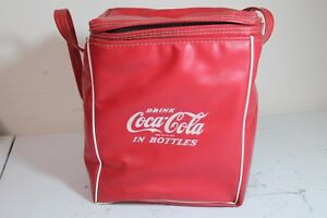 Vintage Coca Cola In Bottles Insulated Vinyl Red Handbag