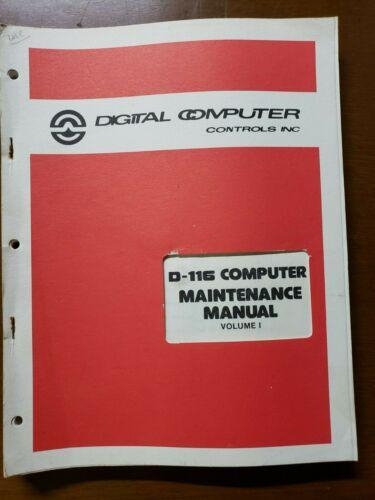 Vintage-1976-Digital-Computer-Controls-Inc-D-116-Computer-Maintenance-Manual