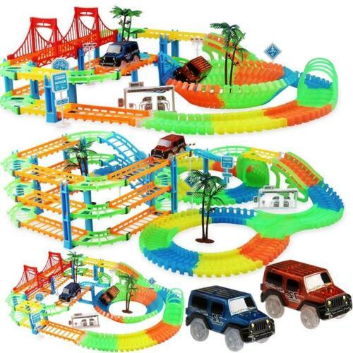 New Railway Magical Racing Track Play Set Educational Diy Bend Flexible Race car