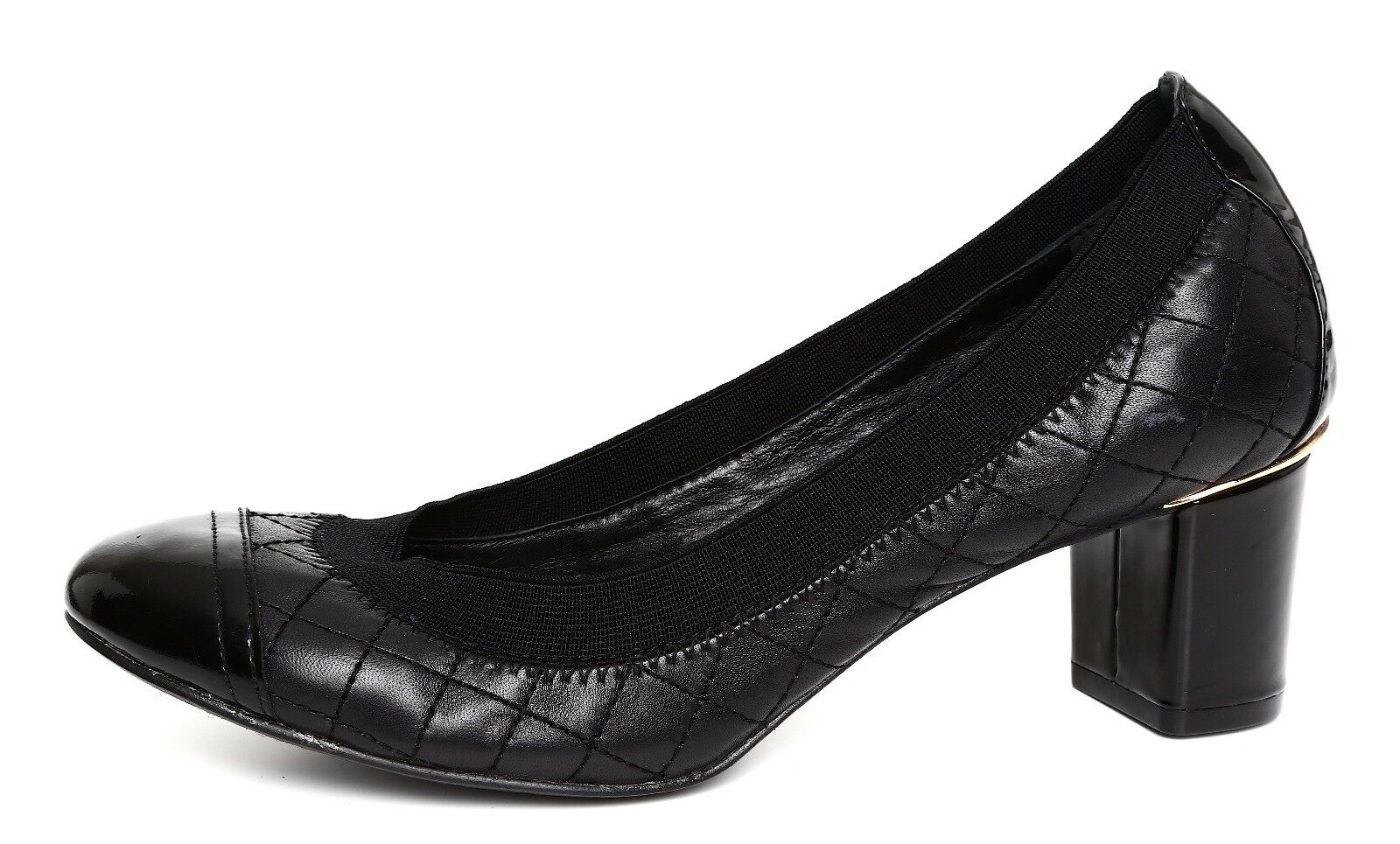 edizione limitata Tory Burch Carrie Carrie Carrie Donna  Quilted nero Leather Cap Toe Pump Sz 6.5M 3198  ti aspetto