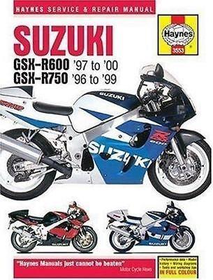 1996-2000 Suzuki GSXR600 GSXR750 Repair Service Workshop Shop Manual Book 3021