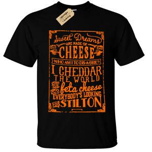 Fromage-T-Shirt-Sweet-Dreams-Are-Fait-de-Cheddar-Brie-Amoureux-Cadeau