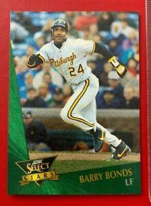 MLB BARRY BONDS Pirates 1992 Score Select Stars Trading CARD #7 | eBay