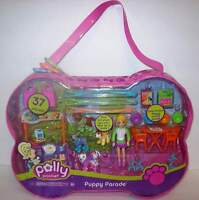 Polly Pocket Puppy Parade Doll With 37 Pieces Dogs Mattel 2006