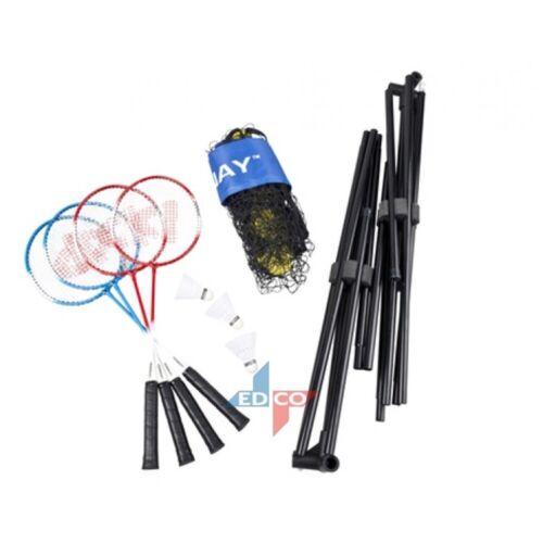 Hochwertiges Badmintonset Badminton Komplettset Schläger Federball Netz Tasche