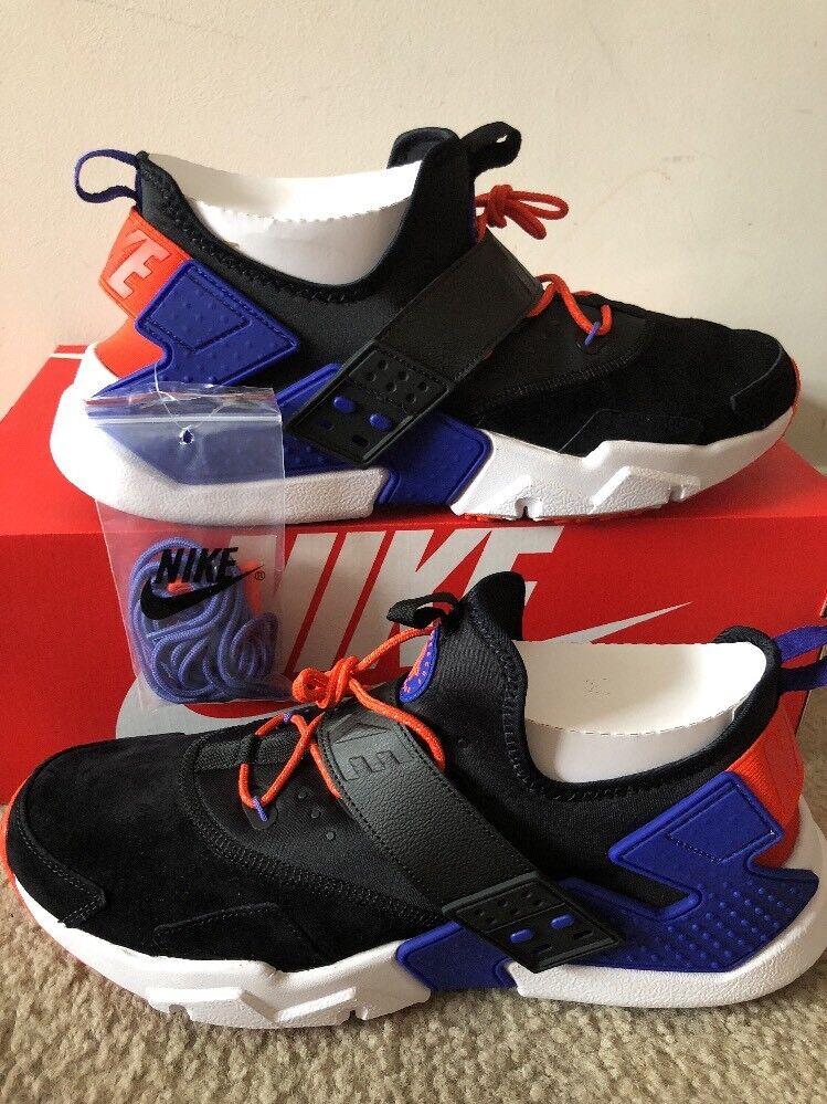 Nike Air Huarache Drift PRM Mens AH7335-002 Black Violet Orange Shoes Comfortable Cheap women's shoes women's shoes