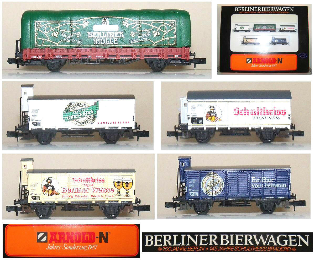 ARNOLD 0156 SET TRENO MERCI con 5 VAGONI BERLINER Limited Edition In BOX SCALA-N