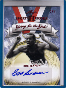 2013-LEAF-SPORTS-HEROES-GOING-FOR-THE-GOLD-BOB-BEAMON-2-5-AUTOGRAPH-AUTO