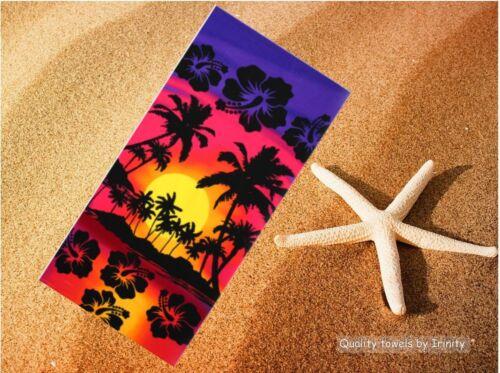 3Fashion soft microfiber large beach towel camping travel sauna holiday 75 150