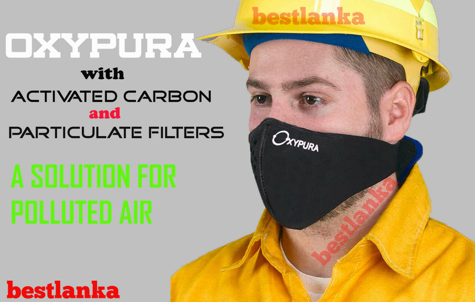 Anti Smoke Universal Air Purifying Face Mask activated  carbon filter multi layer  with 60% off discount