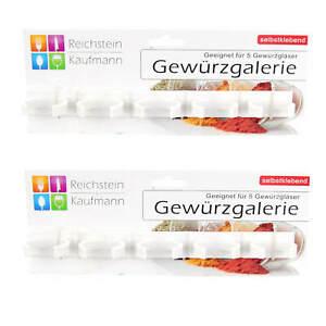 2x-Riche-Pierre-amp-Kaufmann-a-epices-Galerie-Etagere-10-a-epices-fidele-verre-auto-adhesif