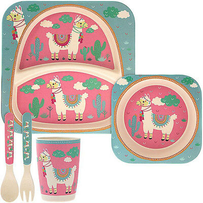 Sunny Bamboo Eco Baby Food Set Llama Strengthening Sinews And Bones Cups, Dishes & Utensils Bowls & Plates