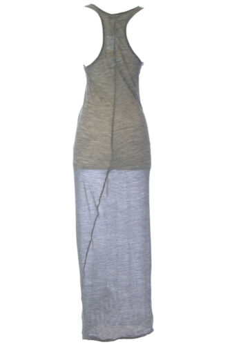 WITH /& WESSEL Silver Melange Lightweight Racer Back Tank Dress T1507 $242 NWT
