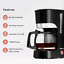 thumbnail 2 - Geepas 1000W Filter Coffee Machine, 1.5L   Coffee Maker for Instant Coffee, &  
