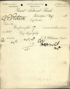 1891 Philadelphia Letter Girard National Bank