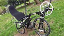 Recumbent Folding Bike Bicycle Flevobike Black Disk Brake Ventisitz Seatmat NEW