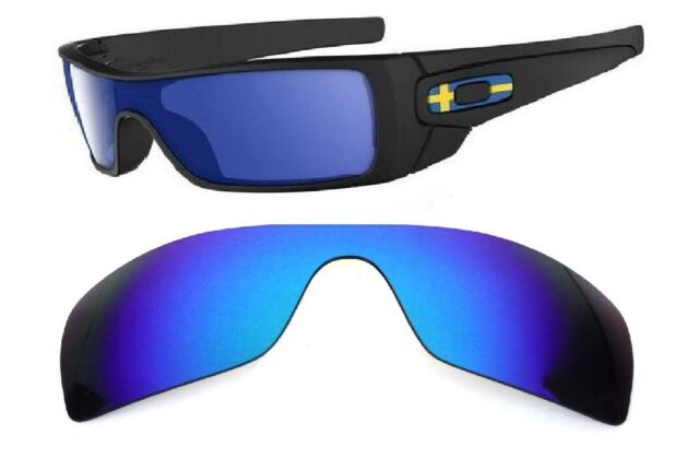 Galaxy Replacement Lenses for Oakley Batwolf Blue Color Polarized 100 UVAB