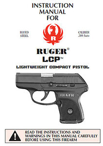 ruger lcp 380 auto pistol owners instruction and maintenance manual rh ebay com ruger lcr owners manual pdf ruger lcr owners manual