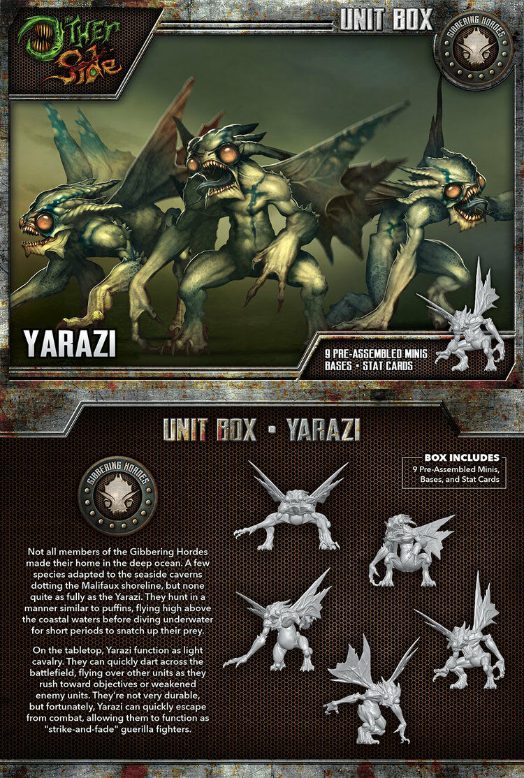 Malifaux The Other Side Yarazi Unit box Wyrd